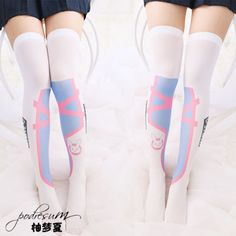 ♡ DVA Overwatch Hana Song Mech Thigh High Socks / Tights Cosplay ♡ on Storenvy