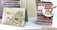 Stampin' Up! Founder's Circle 2015, Birthday Blooms Sneak Peek of stamp set & DSP in the Occasions 2016 catalog.