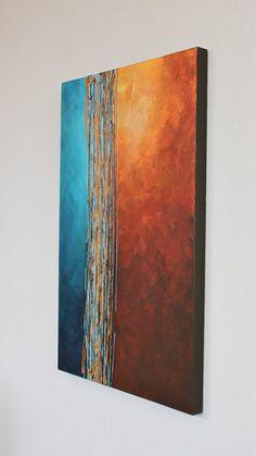 Intersección azul turquesa naranja amarillo óxido por StudioZen