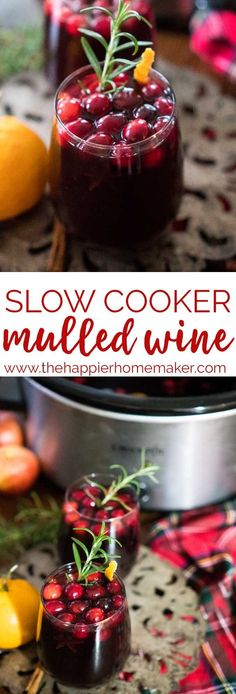 Slow Cooker Mulled Wine is a classic winter drink recipe perfect for entertaining at those holiday parties! Inspired by the British Christmas Markets! #recipe #cocktail #christmas