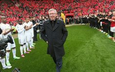 Sir Alex Fergusons final exit from the tunnel at Old Trafford during the guard of honour.