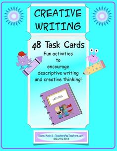 Keep creativity alive in the classroom! Teaching to the test takes up a lot of instructional time. Ready to print 48 creative writing task cards that encourage creative thinking too! Great for small groups and centers! priced item