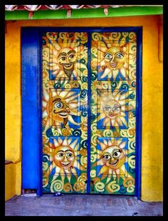 inchies design inspiration (Rosarito Ensenada - Mexican Door) The humor in the artwork makes me SMILE!