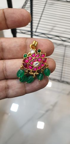 Our handcrafted earring collection to pair with your traditional festive wear South Indian Bridal Jewellery, Indian Jewelry, Bridal Jewelry, Gems Jewelry, Jewelery, Fine Jewelry, Gold Jewellery, Nose Ring Designs, Jewelry Design