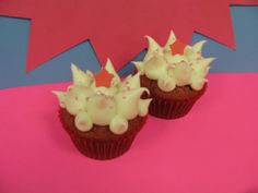 Our signature red velvet cupcakes, with spiked cream cheese topping in salute to Dr. Albert Einstein!  This delicious cupcake does us proud.  There's a reason it's a top seller, and it's not just looks.