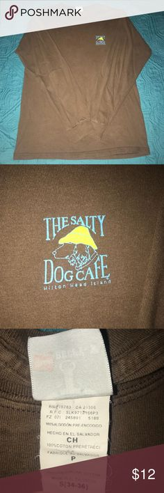 The salty dog cafe long sleeved shirt Brown salty dog café Long sleeve T-shirt. In good condition slightly worn. the salty dog cafe Tops Tees - Long Sleeve