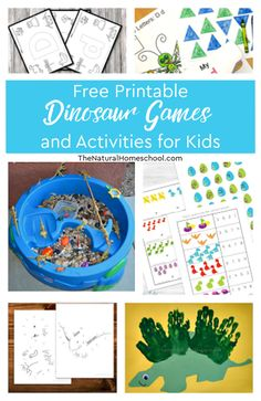 Free Printable Dinosaur Games and Activities for Kids In this post, you will find all kinds of fun dinosaur printable games and activities for kids, so come and take a look. Dinosaur Books For Kids, Dinosaur Games, Dinosaur Printables, Dinosaur Activities, Dinosaur Crafts, The Good Dinosaur, Hands On Activities, Free Printables, Graphing Activities