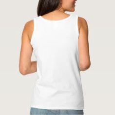 Custom Womens Basic Cotton Tank Top - Back