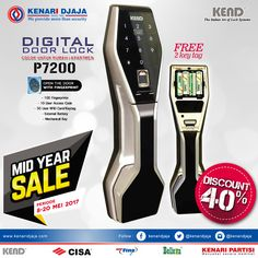 Digital Door Lock adalah Sebuah kunci praktis dan aman yang dapat diakses dengan fingerprint, RFID Card dan Mechanical Key, cocok digunakan untuk rumah / apartement. Dapatkan Discountnya di Showroom cabang Semarang, Jogja, Bali dan Makassar.  [ K E N A R I D J A J A ] PELOPOR PERLENGKAPAN PINTU DAN JENDELA SEJAK TAHUN 1965  SHOWROOM :  JAKARTA & TANGERANG 1 Graha Mas Kebun Jeruk Blok C5-6 Telp : (021) 536 3506, Fax : (021) 530 0592  2 Jl. Pinangsia Raya 16 B-C Telp : (021)..
