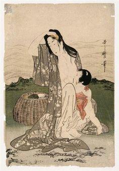 Kitagawa Utamaro (Japan, Pearl Divers, ca. Art Asiatique, Reproduction, Art Database, Japanese Painting, Japanese Prints, Japan Art, Woodblock Print, Vintage Japanese, Erotic Art