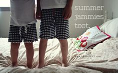 Summer #pj #tutorial for boy and girl - have soem lovely soft linen that can be #recycled