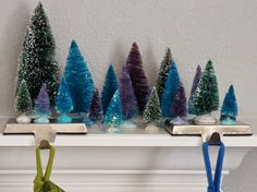 Miniature dyed forests. You can make them any color you choose. See how to do it on MakeMeSisters.com