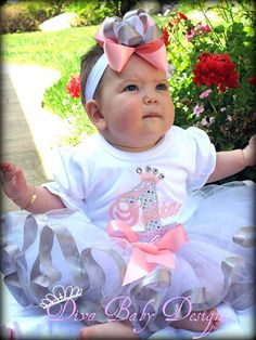 Girls 1st Birthday Outfit  Personalized Pink by DivaBabyDesigns, $85.00