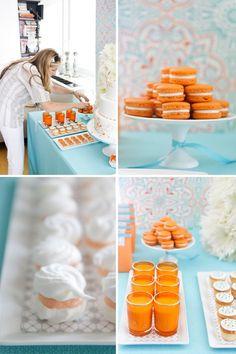 orange and blue theme