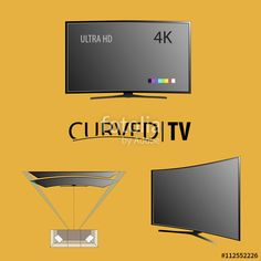 Vector: Technology curved tv #curved #tv #business #brand #hd #ultra #4k #background
