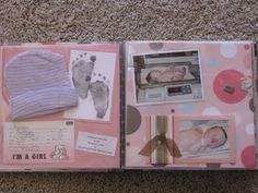 simple scrapbook layouts for baby girl