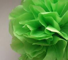 1 Kiwi Tissue Paper Pom Pom  Wedding Decoration  by PaperPomPoms