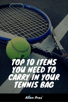 When it comes to #tennis – preparation is everything. Here are the top 10 items every tennis player should carry in their bag.