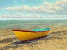 provincetown paintings | Old Yellow Boat""