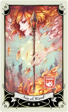 ::Tarot-Minor Arcana-Ace of Wand:: by rann-poisoncage on DeviantArt