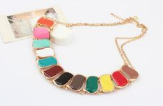 Exaggerated Color Metal Necklace