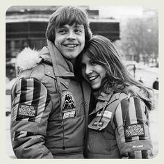 The Empire Strikes Back (1980) Directed by Irvin Kershner. Mark Hamill and Carrie Fisher in Norway #theempirestrikesback #irvinkershner #markhamill #carriefisher #finsk #norway #1980 #memories by glazyuk