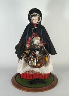 Large elaborate 18th century Peddler Doll