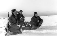 The Waffen-SS elite SS-SkijegerBataljon Norge, a volunteer Norwegian ski battalion formed in February 1942, fought alongside the 6. SS Gebirgs Division Nord in the far north of the Eastern Front, in Karelia, Finland. Photographed here during a training exercise, they will take the fight directly to the Soviets with a mission to locate, disrupt and destroy the enemy.