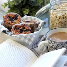 Blueberry Breakfast Muffins lowcarb - Frühstücksmuffins mit Blaubeeren