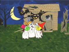 peanuts halloween - trick or treat Snoopy Halloween, Charlie Brown Halloween, Great Pumpkin Charlie Brown, It's The Great Pumpkin, Charlie Brown And Snoopy, Vintage Halloween, Fall Halloween, Happy Halloween, Scream Halloween