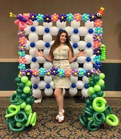 Balloon Photo Frame - Home Page Balloon Frame, Balloon Backdrop, Balloon Decorations Party, Balloon Centerpieces, Balloon Columns, Balloon Wall, Birthday Decorations, Baby Shower Balloons, Birthday Balloons