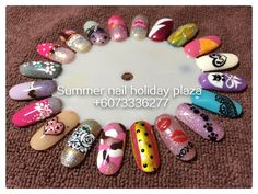 Hand painted gel design sample Summer Nail, Holiday Plaza (McDonald's upstairs 3rd floor)  ☎️+6073336277 WhatsApp +60127242222 Instagram summernail_hp FaceBook Summer Nail Professional Nail Care