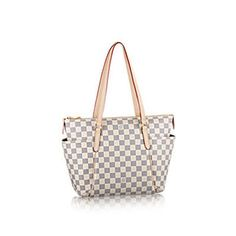 a5f36c9de1d Discover Louis Vuitton Totally PM  A versatile bag in Damier Azur canvas  that is perfect for toting around all those little essentials.