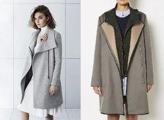 kabát nagy kihajtós gallérral