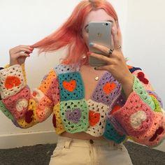 Cute Crochet, Crochet Crafts, Crochet Projects, Knit Crochet, Crochet Bikini, Crochet Quilt, Crochet Crop Top, Easy Crochet, Knitting Projects