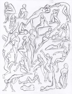 drawing poses | Figure drawing studies - poses
