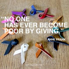 Giving.