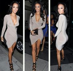 This dress looks so soft | Draya Michelle.