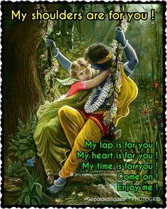 Radha Krishna Love Quotes, Radha Krishna Images, Cute Krishna, Lord Krishna Images, Krishna Radha, Durga, Krishna Leela, Gita Quotes, Lord Krishna Wallpapers