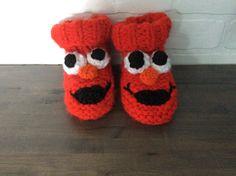 Chaussons à elmo tricot