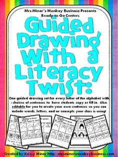 Visual directions for drawings for each letter of the alphabet, plus numerous options for literacy extensions.     $