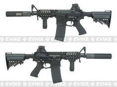 Evike.com G&P Rapid Fire II Airsoft AEG Rifle w/ QD Barrel Extension - Blank Receiver