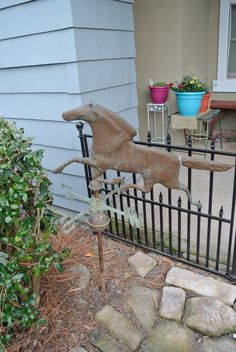 Reserved For Gert Sale Amazing Old Vintage Copper Horse Weather Vane, Large Size…