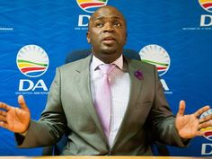 HAMMANSKRAAL, SOUTH AFRICA – MAY 25: Solly Msimanga; the Democratic Alliance (DA) Tshwane mayoral candidate speaks regarding evictions of Sekampeng community on May 25, 2016 in Hammanskraal, South Africa. Msimanga said board memebers of the Tshwane metro are to blame for the violence in the area. (Photo by Gallo Images / Beeld / Thapelo Maphakela)
