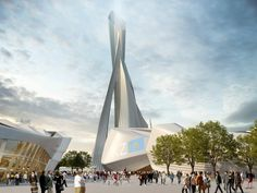 """Astana EXPO-2017 """"Future energy"""" Courtesy of  Zaha Hadid Architects"""
