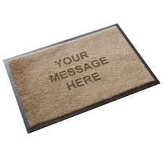 Ultra thin personalised doormat that can be machine washed and dried to keep it looking good as new.Suitable for indoor use, this carpet style doormat is made from hard wearing and long lasting nylon on a nitrile rubber anti slip backing. The design is de-bossed into the pile rather than being printed so it can never fade or wear away. The material is fade resistant and the ultr thin profile mean that it will fit under almost any door. Also available in a larger 75cm x 50cm size.