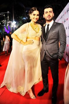Fawad Khan stands with co-star Sonam Kapoor.— Photo Courtesy: Twitter