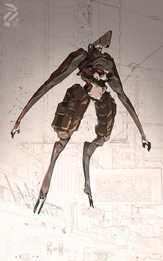 ArtStation - Floating dude., by Nivanh ChantharaMore robots here.