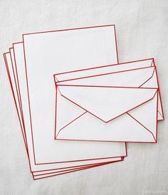 Haibara's Colour Rimmed Washi letter sets from Uguisu   archdigest.com