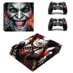 The Joker vs Harley Quinn PlayStation 4 pro skin decal for console and controllers